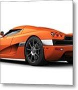 Koenigsegg Ccx Orange Metal Print