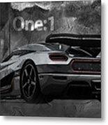 Koenigsegg One-1 Metal Print