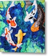 Koi Family Metal Print