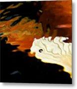 Koi Fin Abstract Metal Print