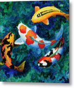 Koi Group Metal Print