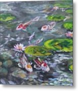 Koi Haven Metal Print