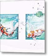 Koi Of The Tropics Metal Print