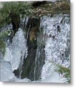Koi Pond Waterfall Metal Print