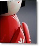 Kokeshi Doll Metal Print