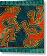 Kokopelli Dancers Metal Print