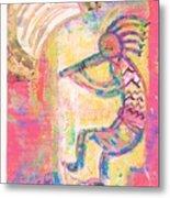 Kokopelli Sleepy Dance Metal Print