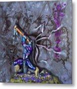 Kokopelli Cave Painting Metal Print