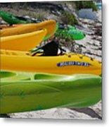 Kolorful Kayaks Metal Print