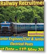 Konkan Railway Recruitment Metal Print