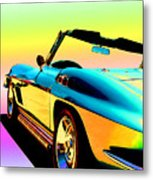 Kool Corvette Metal Print by Lynn Andrews