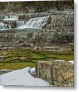 Kootenai Falls In Winter Metal Print
