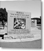Korea The Forgotten War  Metal Print