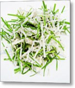 Korean Traditional Fresh Vegetable Salad Metal Print