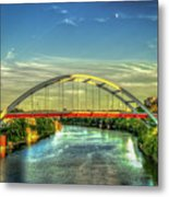 Korean Veterans Memorial Bridge 2 Nashville Tennessee Sunset Art Metal Print