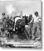Korean War Artillerymen Metal Print
