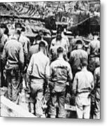 Korean War: Church Service Metal Print