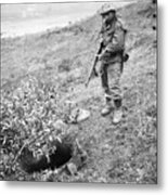 Korean War: Foxhole, 1951 Metal Print