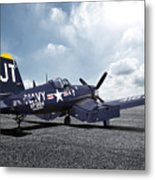 Korean War Hero F4-u Corsair Metal Print