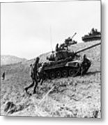Korean War: Infantrymen Metal Print