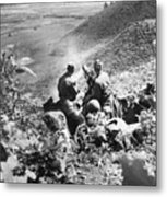 Korean War: Machine Gun Metal Print
