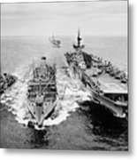 Korean War: Ship Refueling Metal Print