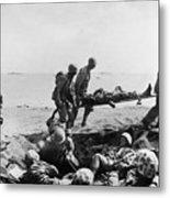 Korean War: Wounded Metal Print