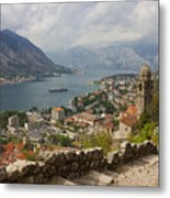 Kotor Panoramic View From The Fortress Metal Print by Kiril Stanchev