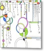 Kp Spirals Metal Print