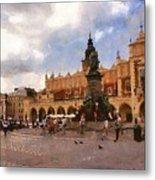 Krakow Main Market Metal Print