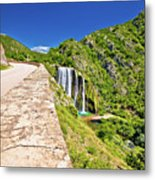Krcic Waterfall In Knin Scenic View Metal Print