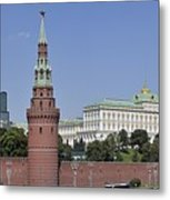 Kremlin Wall Panorama Metal Print