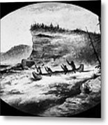 Krieghoff: Canoe On Rapids Metal Print