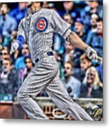 Kris Bryant Chicago Cubs Metal Print