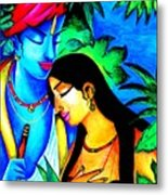 Krishna And Radha Metal Print
