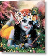 Krishna-sky Boy Metal Print