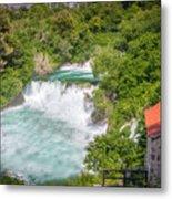 Krka Waterfall Croatia Metal Print
