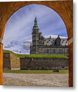 Kronborg Castle Through The Archway Metal Print