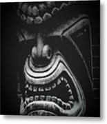 Ku Kii Tiki Hawaiian Culture Wood Carvings Demigods Metal Print