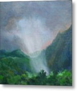 Kualoa Ranch Light Show Metal Print