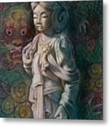 Kuan Yin Dragon Metal Print