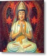 Kuan Yin's Prayer Metal Print