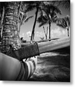 Kuau Palm Trees Hawaiian Outrigger Canoe Paia Maui Hawaii Metal Print