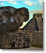 Kukulkan Pyramid At Chichen Itza In The Yucatan Of Mexico Metal Print