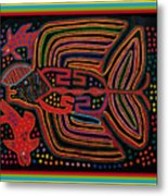 Kuna Indian Flying Fish  Metal Print