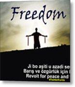 Kurdish Peace And Freedom Poster Metal Print