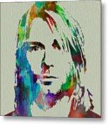 Kurt Cobain Nirvana Metal Print