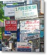 Kuta Street Signs -- Bali Metal Print