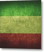 Kuwait Distressed Flag Dehner Metal Print