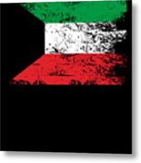 Kuwait Shirt Gift Country Flag Patriotic Travel Asia Light Metal Print